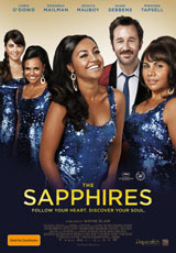 Poster for THE SAPPHIRES (PG) Advance Movie Club Preview Screenings